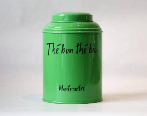 boîte à thé verte