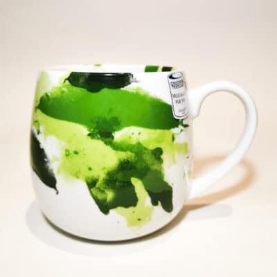 tasse porcelaine verte aquarelle