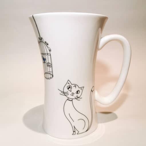 mug porcelaine chat