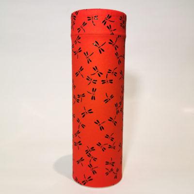 boite washi libellule rouge