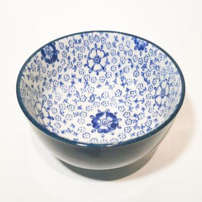 bol bleu fonce fleurs int