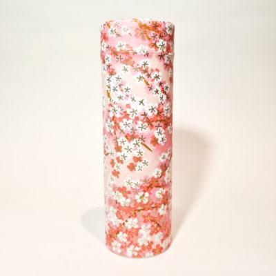 boite washi haute fleurs roses