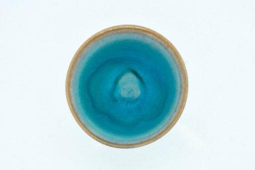tasse bleu vif dessus