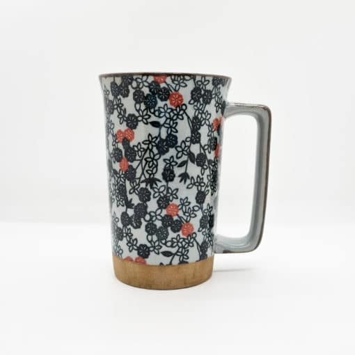 Mug jap fleurs rouges et noires