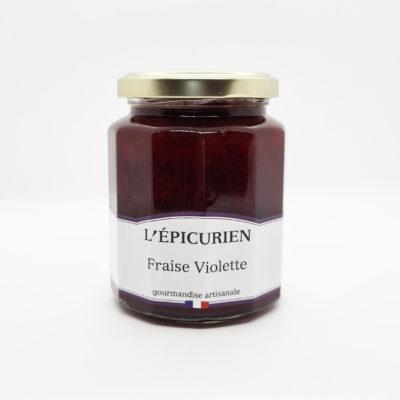 confiture épicurien fraise violette