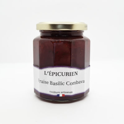 confiture épicurien fraise basilic combava
